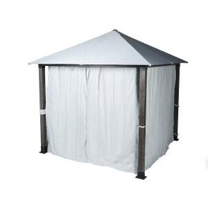 rideaux de tonnelle 3x3 la redoute. Black Bedroom Furniture Sets. Home Design Ideas