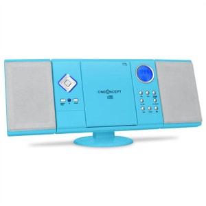 V-12 Chaine HiFi stéréo Lecteur CD-MP3 USB SD -bleue ONECONCEPT