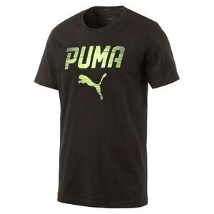 Bedrukt T-shirt in jersey met ronde hals PUMA