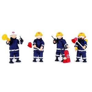 4 pompiers + accessoires PINTOY