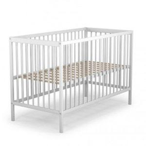 Lit bébé en bois laqué blanc Baby Fox à barreaux  3 hauteurs 60 x 120 cm BABY FOX