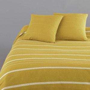 couvre lit jaune la redoute. Black Bedroom Furniture Sets. Home Design Ideas