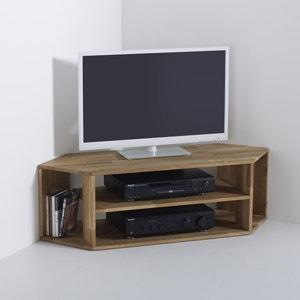Meuble TV d'angle, chêne massif, Edgar La Redoute Interieurs