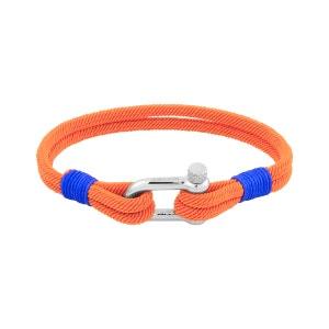 Bracelet en Corde Orange et Acier ROCHET