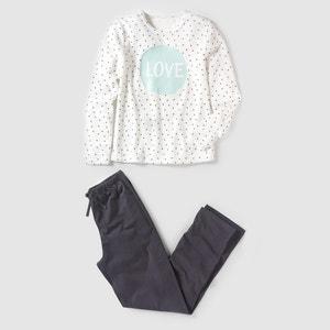 Pijama de 2 materias con estampado