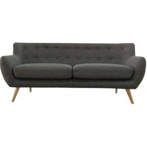 Canapé 3 places en tissu ALGANO DECLIKDECO