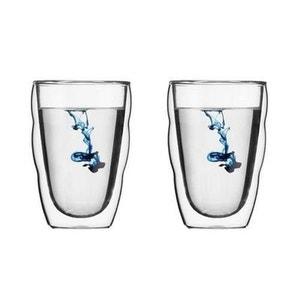 BODUM Set de 2 verres PILATUS double paroi 0,35L ATLANTIC
