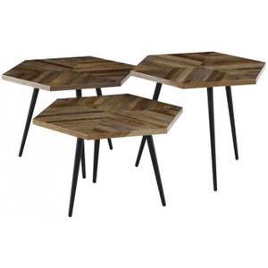 Lot de 3 Tables Gigognes Bois NASH DECLIKDECO