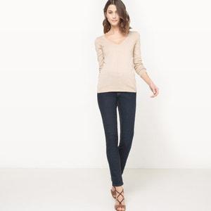 Pullover mit V-Ausschnitt, Bio-Baumwolle R essentiel