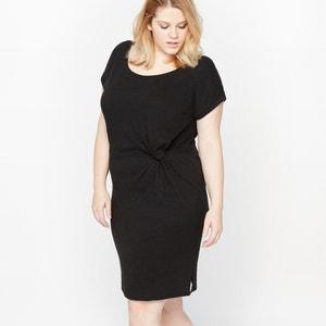 Sukienka z okrągłym wycięciem szyi i krótkim rękawem CASTALUNA