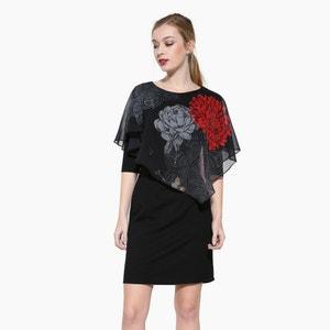 Платье короткое с короткими рукавами DESIGUAL