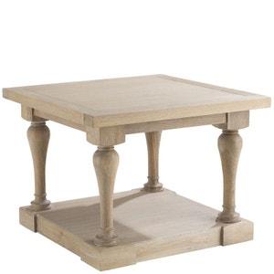 Table bout de canapé carré chêne massif 60x40cm MEDICIS PIER IMPORT