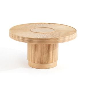Mesa baja de caña de ratán ø61,5 cm Khaï