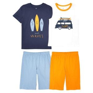 Lot de 2 pyjashorts imprimés, 3 - 12 ans La Redoute Collections
