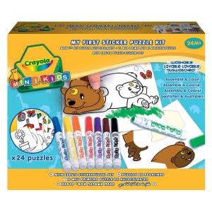 Kit autocollants Mini Kids : Mon premier puzzle autocollant CRAYOLA