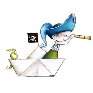 Sticker enfant - Pirate aux aguets ACTE DECO