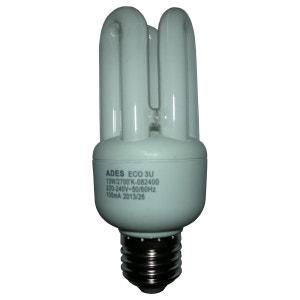 Ampoule Fluocompacte éco 3U E27 - 13W ADES