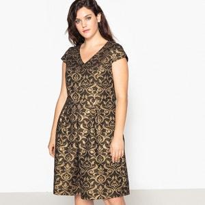 Halflange jurk met jacquard motief CASTALUNA