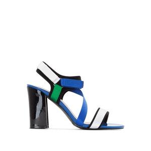 Sandalen met klittenband en asymmetrisch bandje La Redoute Collections