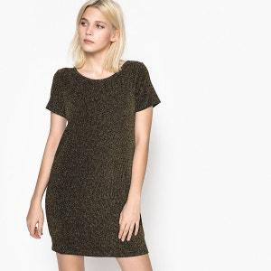 Plain Short Shift Dress with Short Sleeves SCHOOL RAG