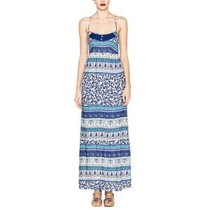 Langes Kleid mit schmalen Trägern, bedruckt ESPRIT