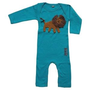 Combinaison pyjama bébé customisée avec lion brodé RIKIKI KIDS