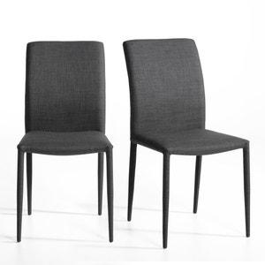 Chaise tissu, Bitume (lot de 2) AM.PM.
