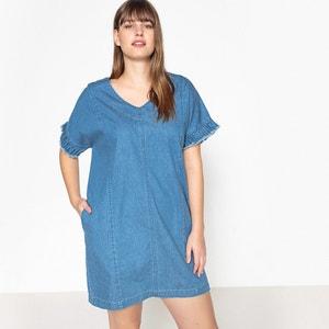Kleid mit gerader Schnittform und kurzen Ärmeln, unifarben CASTALUNA