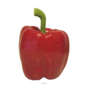Poivron artificiel avec poids 9 cm Rouge cerise - choisissez votre coloris: Rouge Cerise ARTIF-DECO