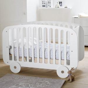 Lit bébé forme roulotte, sommier ajustable 3 hauteurs La Redoute Interieurs