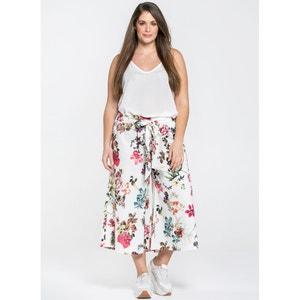 Pantaloni a pinocchietto larghi fantasia floreale MAT FASHION