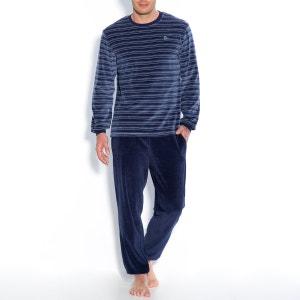 Cotton Blend Velour Long-Sleeved Pyjamas R essentiel