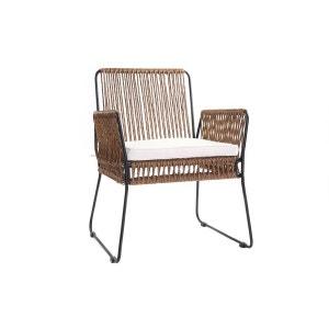 Lot de 2 fauteuils de jardin en fils de résine MACCA MILIBOO