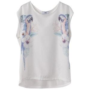 Short-Sleeved Parrot Print T-Shirt LE TEMPS DES CERISES