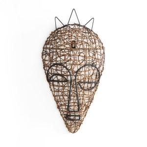 Masque africain rotin tressé mod. 1, Yanaelle AM.PM
