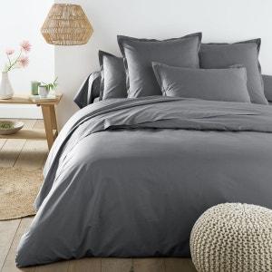 Parure de lit gris la redoute - Housse de couette turquoise et grise ...