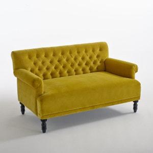 canape velours jaune la redoute. Black Bedroom Furniture Sets. Home Design Ideas