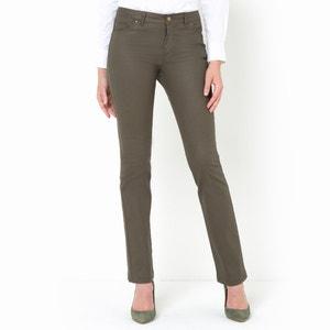 Rechte broek met 5 pockets in gecoat stretch katoen La Redoute Collections