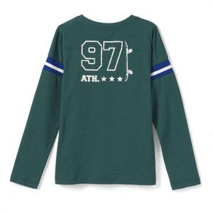 Camiseta con motivo en la espalda 3-12 años La Redoute Collections