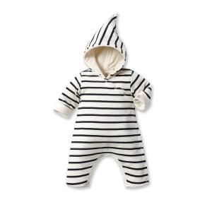 Combinaison bébé à capuche rayée PETIT BATEAU