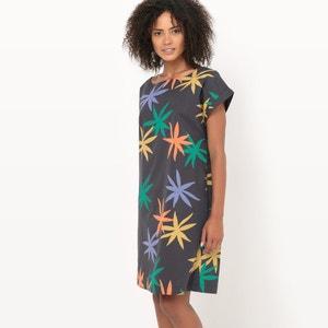 Vestido recto con estampado de flores R essentiel
