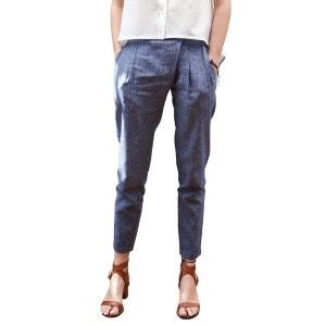 Pantalon chic pour Femme décontractée en lin et coton Chic et élégant SUNDAY LIFE