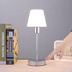 Jolie lampe à poser Sascha avec abat-jour en verre LAMPENWELT