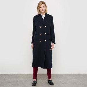 Abrigo estilo casaca de paño de lana La Redoute Collections
