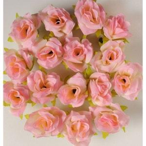 Tetes de rose Artificielle X 12 Rose Tendre D 6 cm pour Boule de rose - choisissez votre coloris: Rose tendre ARTIF-DECO