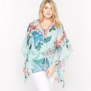 Bedrukte vierkante blouse CASTALUNA
