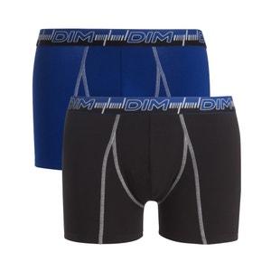 Boxer 3D FLEX DYNAMIQUE en coton stretch,  lot de 2 DIM