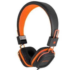 casque stereo pliant orange gumdrop NGS