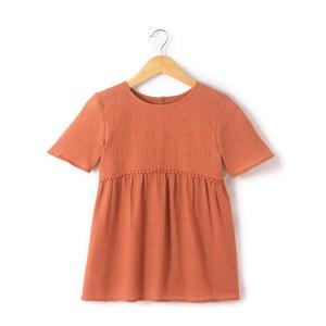 Geborduurde blouse met korte mouwen R essentiel