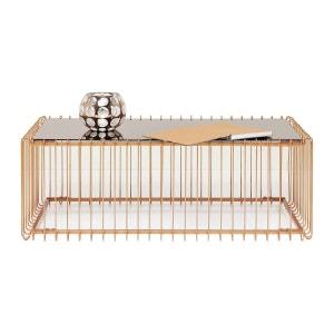 Table basse Wire rectangulaire cuivre 115x57cm Kare Design KARE DESIGN
